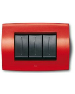 ABB Red Switch Plate - Glossy Finish - ELOS Series